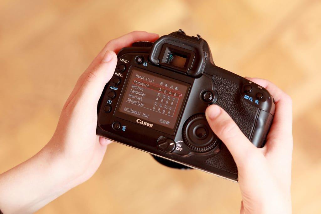 Instellen beeldstijl in je camera
