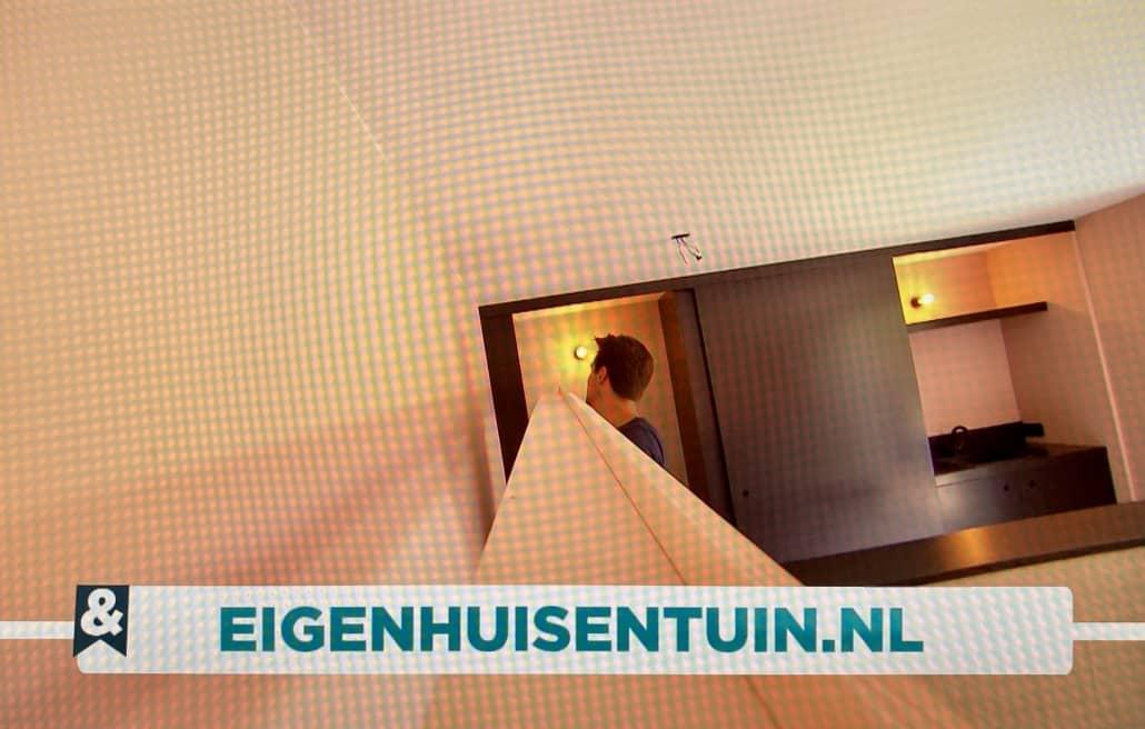 Shot vanaf bewegende plank in filmpje van Eigen Huis en Tuin