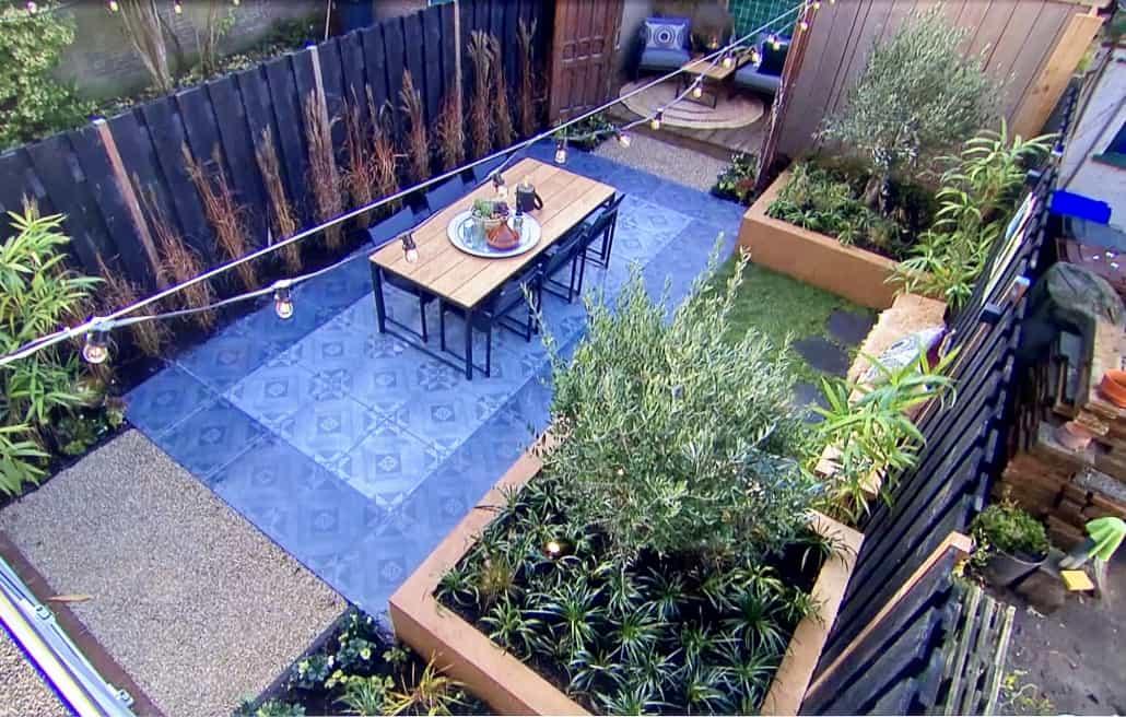 Wideshot van nieuw aangelegde tuin in een filmpje van Eigen Huis en Tuin